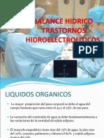 BALANCE HIDRICO Y DESEQUILIBRIO HIDROELECTROLITICO