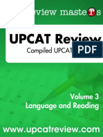 Compiled UPCAT Questions Language Reading RtH7as