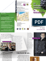 Programme des Vendanges littéraires de Rivesaltes 2010