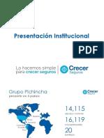 1 Presentación Institucional CRECER SEGUROS SET16 Vfinal