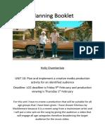 planning booklet unit 10