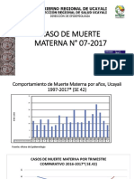 CASO DE MUERTE MATERNA N° 07-2017