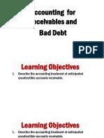 _19 - Account Receivables and Bad Debt