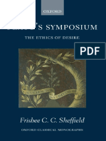 Frisbee Sheffield Platos Symposium the Ethics of Desire Oxford Classical Monographs