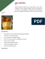 Mousse Frutal Bajas Calorías