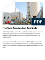 Frac Sand Transloading Terminals