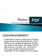 Physics Investigatory Project Class 12th
