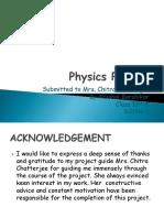 Physics Investigatory Project Class 12th