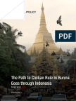 The Path to Civilian Rule in Burma Goes Through Indonesia (2)