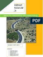 Trabajo de Caminos 2 Impacto Ambiental en Carreteras