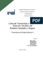 Proyecto Linea Transmision 125kv Aragua Carabobo