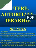 1-2. Putere, Autoritate Si Ierarhie