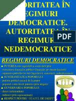 3-4. Autoritatea in Regimuri Democratice Si in Regimuri Nedemocratice