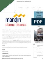 Profil Mandiri Utama Finance - Mandiri Pinjaman Dana