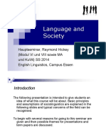 Language and Society - Introduction (1)