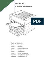 Apple LaserWriter Pro 810 Service Source