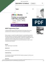 ABAP Programming Types