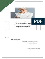 Le Bilan Personnel Et Le Bilan Professionel 1