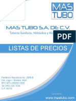 PRECIO DE MAS TUBO SA DE CV