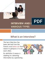 Interview and Its Types