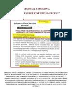 Seasonal Flu 2010 Personal Risk Analysis