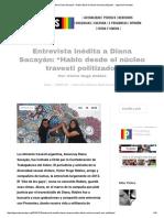 Entrevista a Diana Sacayán