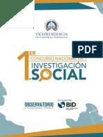 1er  Concurso Nacional de  Investigación Social