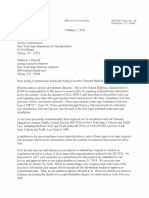 Letter to NYSDOT and NYSTA From Acting FHWA Administrator Hendrickson