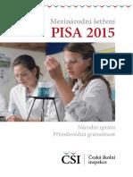 Národní zpráva - Mezinárodní šetření PISA 2015 vydaná roku 2016