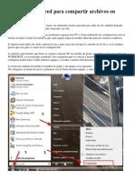 Configurar Una Red Para Compartir Archivos en Windows 7