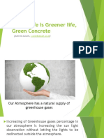 Better Life is Greener life, Green Concrete.pptx
