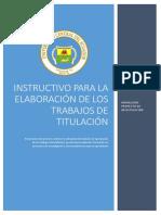 Instructivo de Proyecto 0.7 Trabajos de Titulación