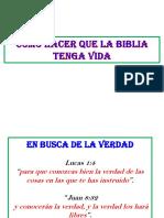 Como Hacer Que La Biblia Tenga Vida