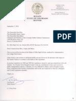 Harvey Letter
