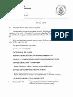 Jefferson County Board of Legislators February 2018