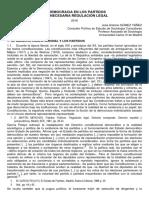 La Democracia en Los Partidos y Su Necesaria Regulacion Lega-JA Gomez Yañez