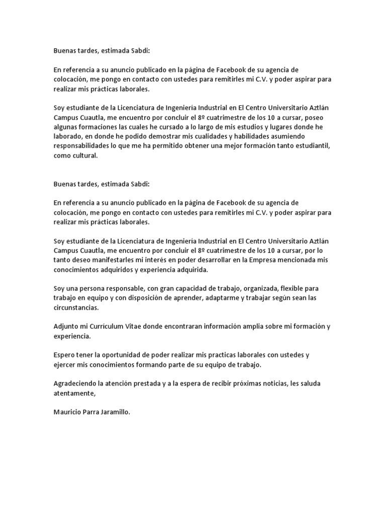 Único Mi Currículum Está Adjunto Galería - Ejemplo De Colección De ...