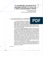 Lectura 5. Capítulo 2. La Constitución Conceptual de La Psicopatología Infantil. Las Claves Del Hecho Clínico Psicopatológico Infantil. Páginas 45-47