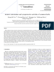 Relative Antioxidant and Cytoprotective Activities of Common Herbs
