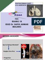SAP Penyuluhan R18 - Bahaya Merokok