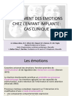 traitment des emotions ches l'enfant implante