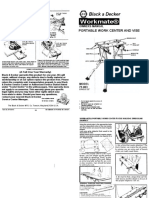 Black & Decker Workmate Owners Manual 79-003 Type 2