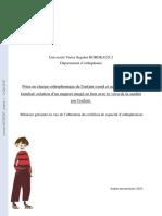 Prise en Charge Orthophonique de l'Enfant Sourd Et Accompagnement