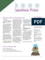 newsletter 2-1-18