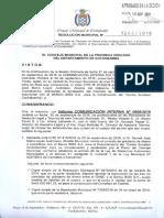 Resolución 7368/2016 del Concejo Municipal de Cercado