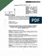 Tania Pariona - Proyecto de Ley Para Derogar La Ley Que Promueve Carreteras en Ucayali