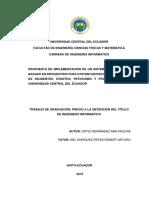 Propuesta de Implementación de Un Sistema Service Desk