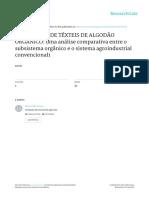 Producao de Texteis de Algodao Organico FIBRAS