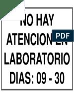 No Hay Atencion en Laboratorio Dias