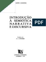 COURTÉS,J. Introdução à Semiótica Narrativa e Discursiva